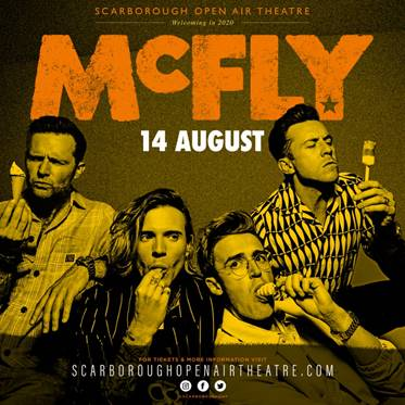 Mcfly unveiled as Scarborough Open Air Theatre's first headliners for Summer 2020
