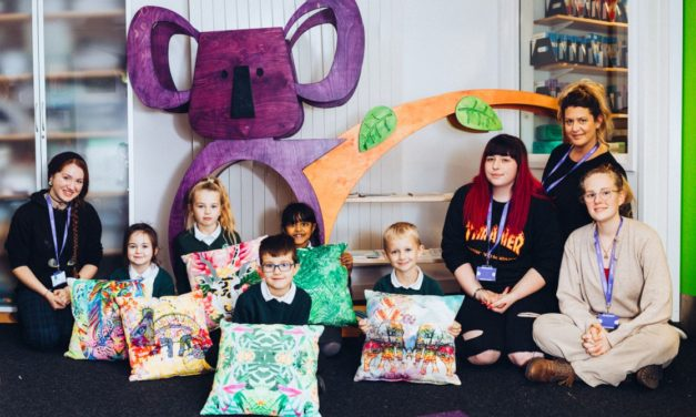 Art students create jungle themed library project for Northwood Primary School