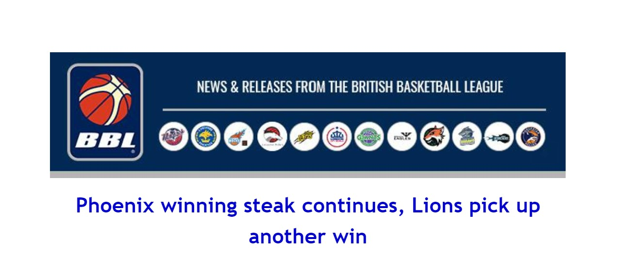 Phoenix winning steak continues, Lions pick up another win