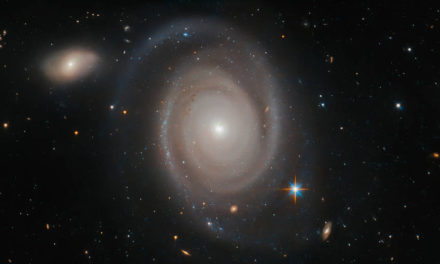 Hubble Views a Not-So-Lonely Galaxy