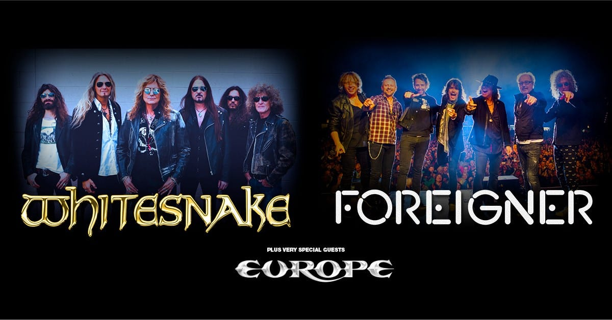 Whitesnake and Foreigner with special guests Europe Announce UK Tour