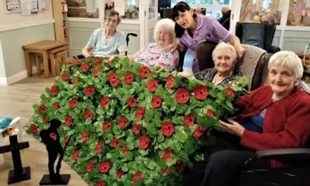 Plastic bottle poppies centrepiece of Remembrance Day event