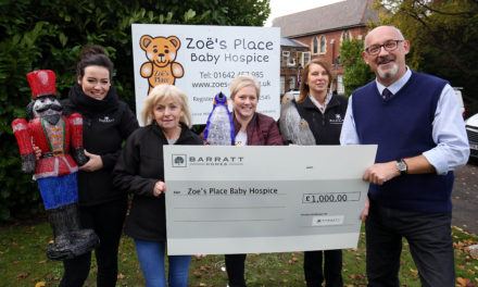 Local housebuilder helps light up Middlesbrough baby hospice for Christmas