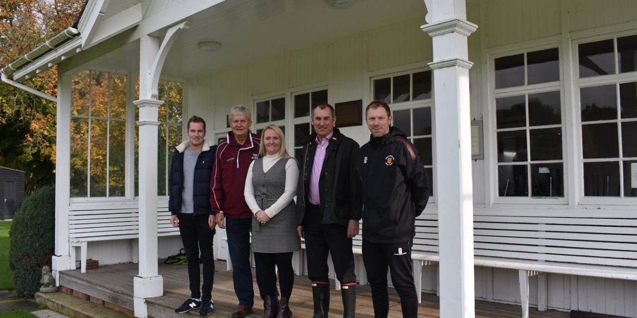 Blagdon Park Cricketers At Cutting Edge After Banks Group Pitches In With Mower Grant