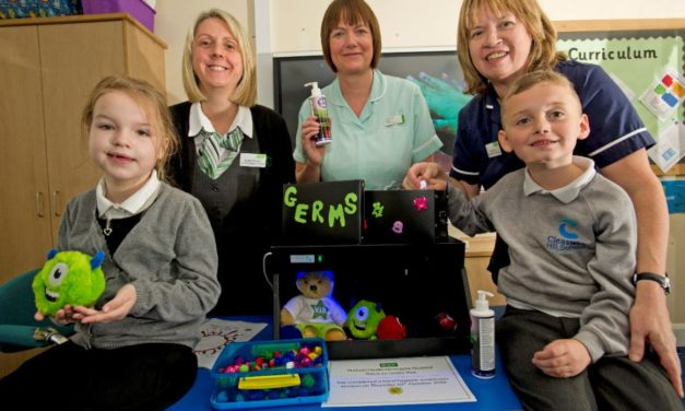 Infection prevention experts help school children in Northumberland to beat the bugs this winter