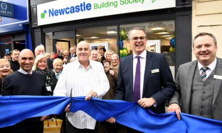 Consett Customers Brave The Rain To Attend Official Opening Of Upgraded Newcastle Building Society Branch