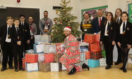 Pupils donate party bags and hampers to help feed families this Christmas