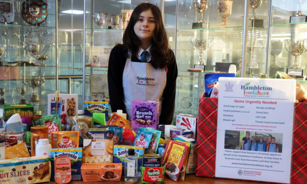 Foodbank boosted by young volunteer's work