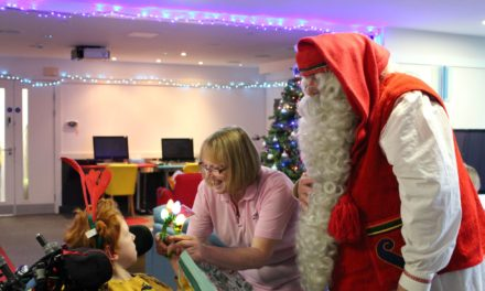 The real Finnish Santa Claus visits children staying at St Oswald's Hospice