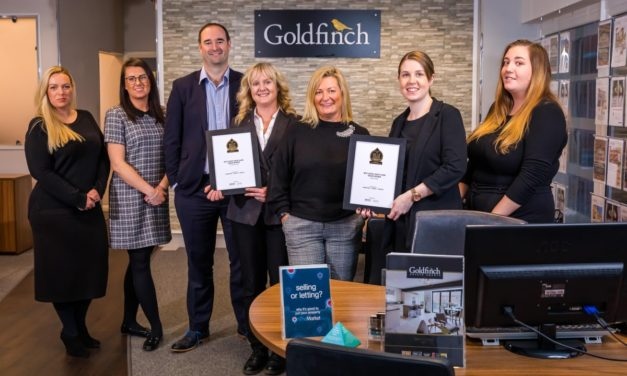 Goldfinch wins place in the top 3% of estate agents in the UK as it plans for future growth