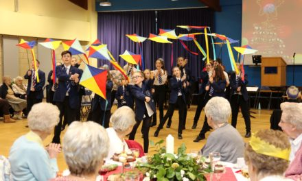 Festive afternoon tea gets students and guests in the Christmas spirit