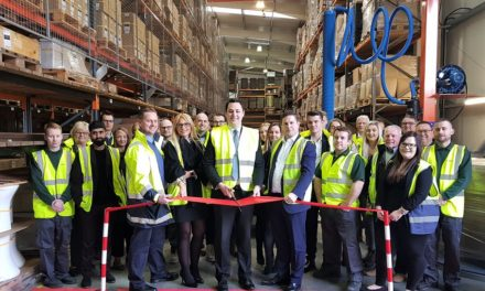 NYMAS celebrates warehouse refurb and year of growth with Tees Valley Mayor