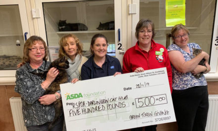 RSPCA CAT HUB AWARDED £500 BY DARLINGTON'S ASDA SHOPPERS