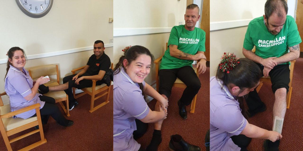 Carers endure leg waxing to raise funds for cancer charity