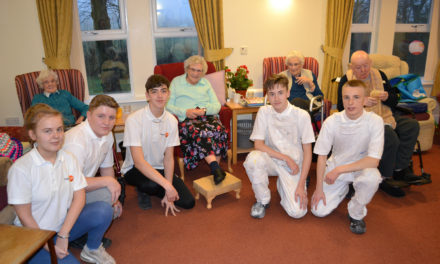 Painting and decorating students give care home a makeover