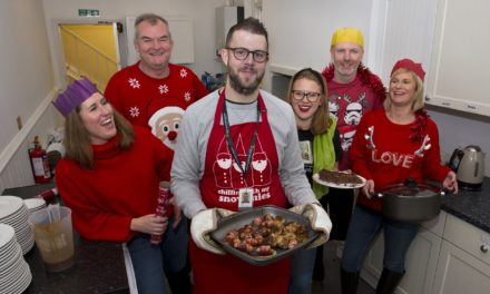 Solicitors serve up festive lunch to help homeless charity