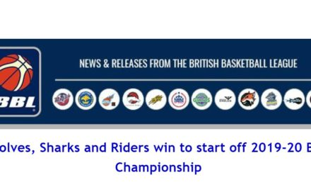 British Basketball League News: Wolves, Sharks and Riders win to start off 2019-20 BBL Championship