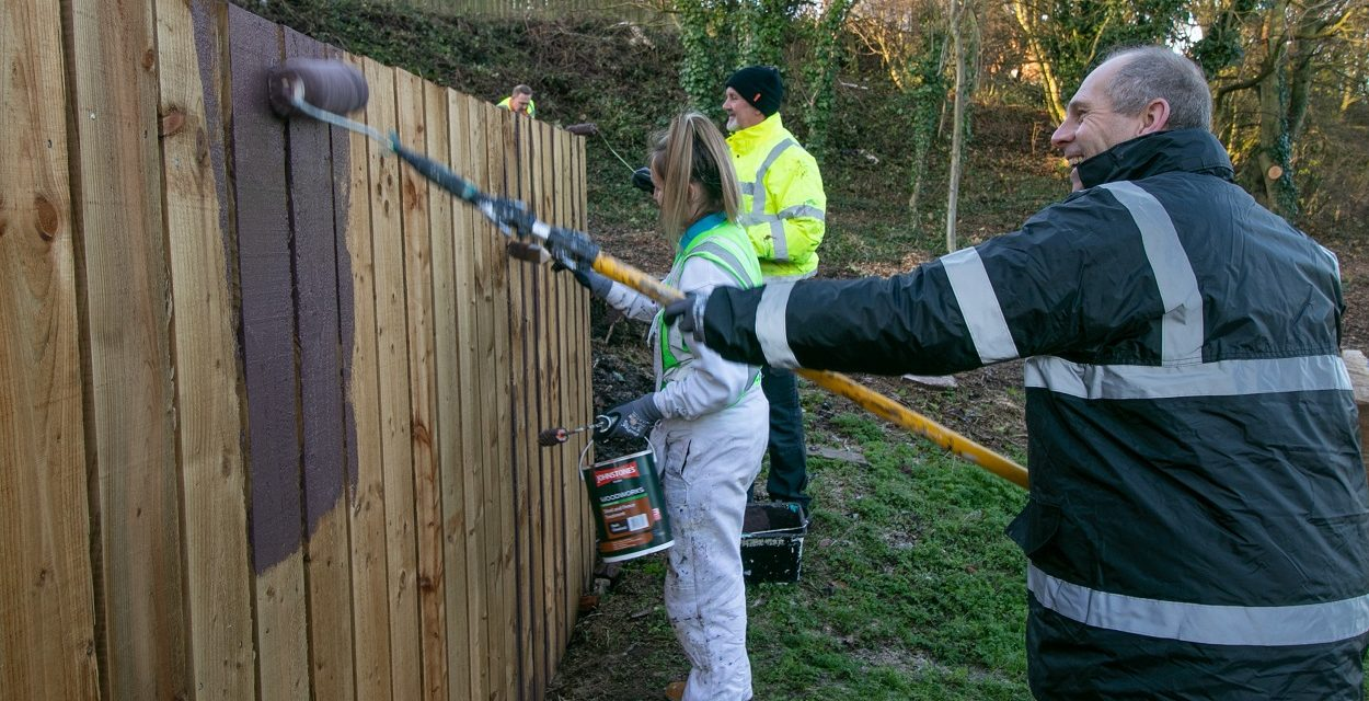 COMMUNITY EFFORT SPRUCES UP COWSCOTE WOODLAND IN LOFTUS