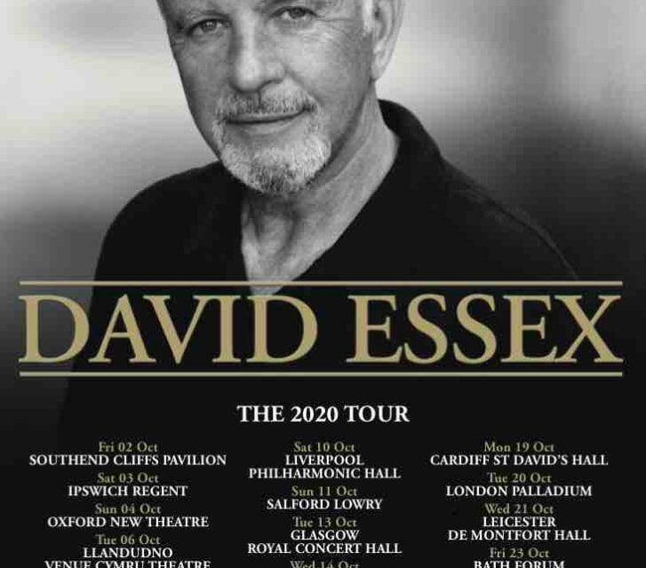 David Essex nationwide UK tour announced for October 2020