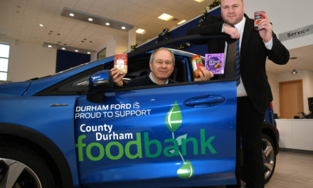 Bristol Street Motors Durham dealership gives local food bank support the green light