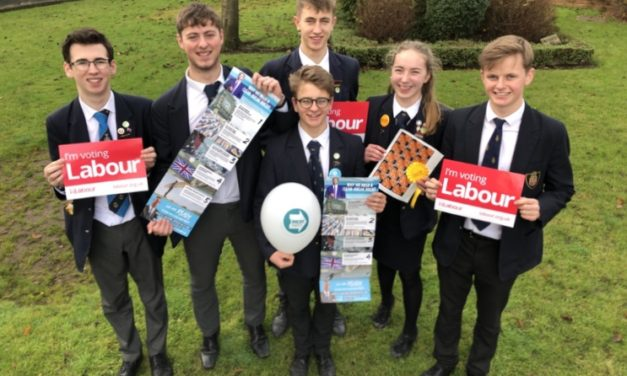 Ripon Grammar students get to grips with politics in mock election