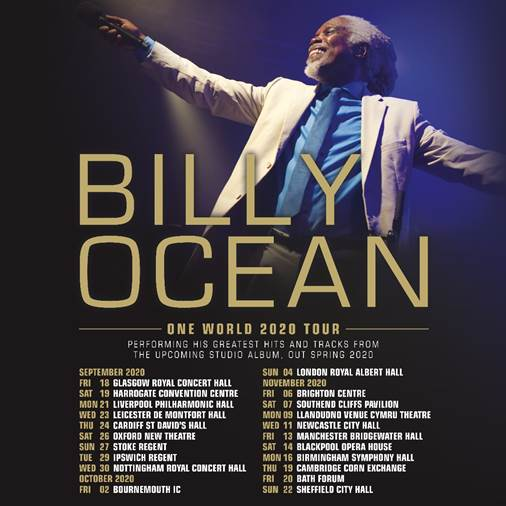 BILLY OCEAN ANNOUNCES 'ONE WORLD' 2020 TOUR
