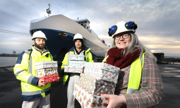 North East business delivers festive cheer to sailors