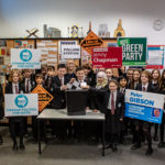 Pupils take part in mock election