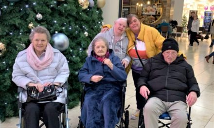 Care home residents treated to Christmas shopping spree