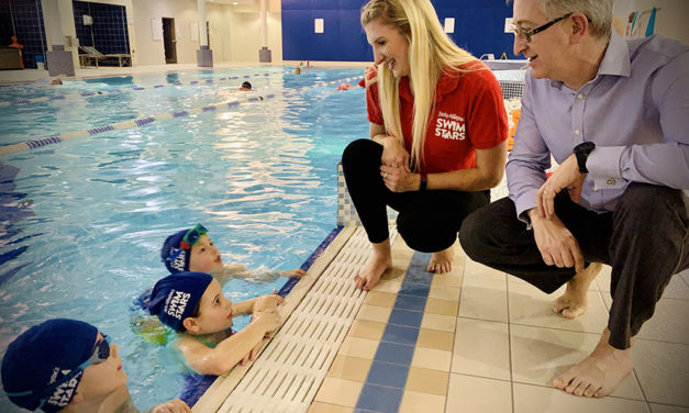 Four-time Olympic medallist Becky Adlington launches new swimming initiative in Newcastle