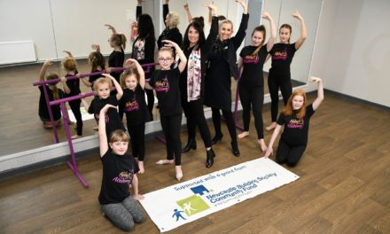 Dancers Stepping Into The Light At North Shields Community Centre Thanks To Newcastle Building Society Building Improvement Grant
