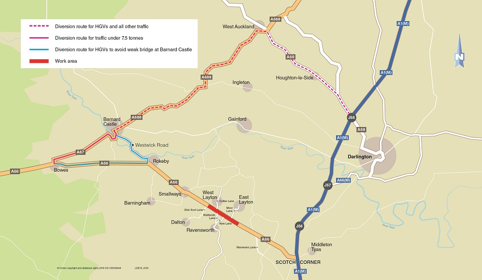 A66 improvements to take place in County Durham
