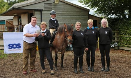 SOS GROUP LTD DONATION SUPPORTS HORSE RIDING FOR ALL