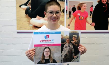 Eve's hair-raising act of kindness for Dementia UK