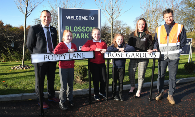 Pegswood pupils see winning street names come to life on Barratt Homes site