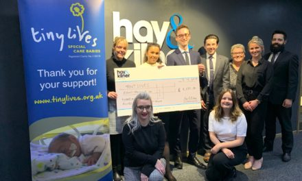 Hay & Kilner Team Raises Almost £9,000 For Tiny Lives Trust