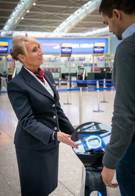 BRITISH AIRWAYS TRIALS ROBOTS TO GUIDE CUSTOMERS THROUGH THE AIRPORT
