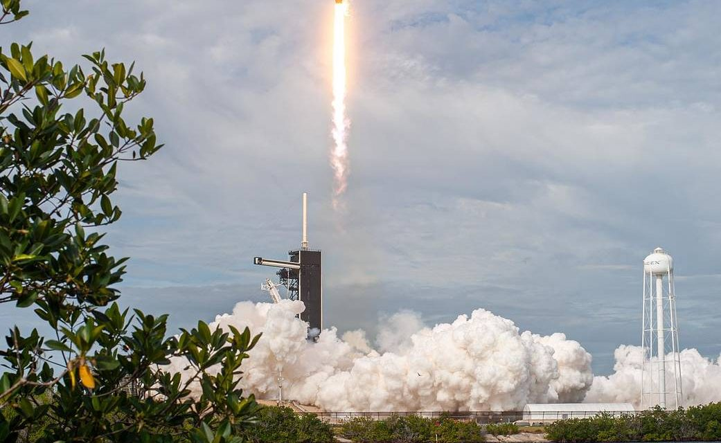 Liftoff of SpaceX's In-Flight Abort Test