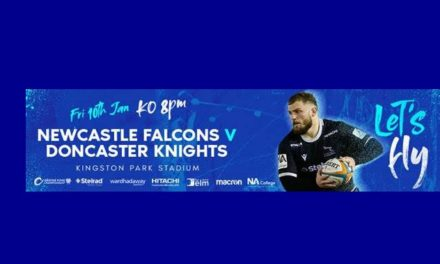 Newcastle Falcons team to face Doncaster Knights