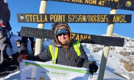TEESSIDE MAN CONQUERS KILIMANJARO TO RAISE MONEY FOR THE SAMARITANS FOLLOWING TWO SUICIDE ATTEMPTS