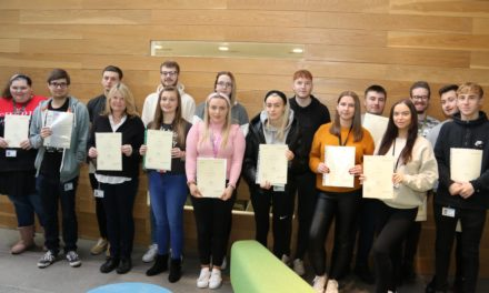 Students win praise as they move up from apprenticeships to employment