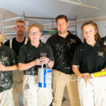 Female apprentices 'painting the glass ceiling' with bespoke decorating firm