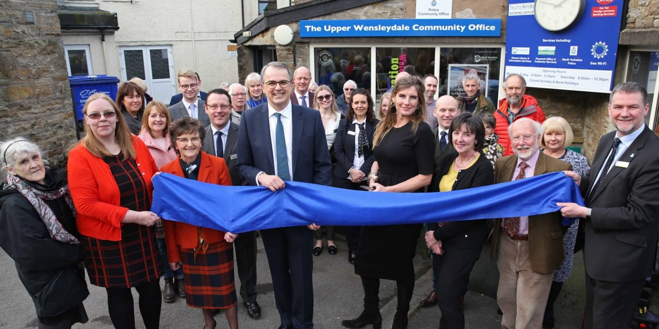 Yorkshire Shepherdess Opens Newcastle Building Society's New Hawes Branch