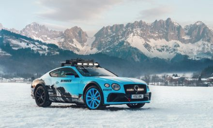 BENTLEY CONTINENTAL GT GETS A GRIP AT THE GP ICE RACE