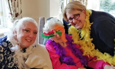 Mardi Gras carnival at Teesside care home