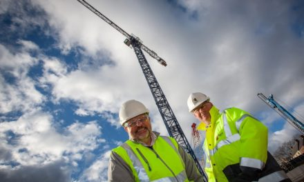 Milburngate sets its sights high with installation of 68-metre-tall tower crane