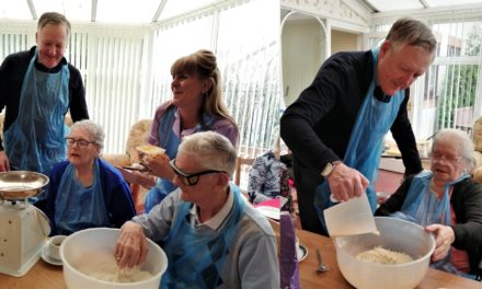 MP joins care home bakery club