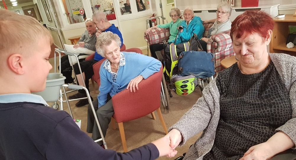 Captain Underpants a hit at care home for Storytelling Week