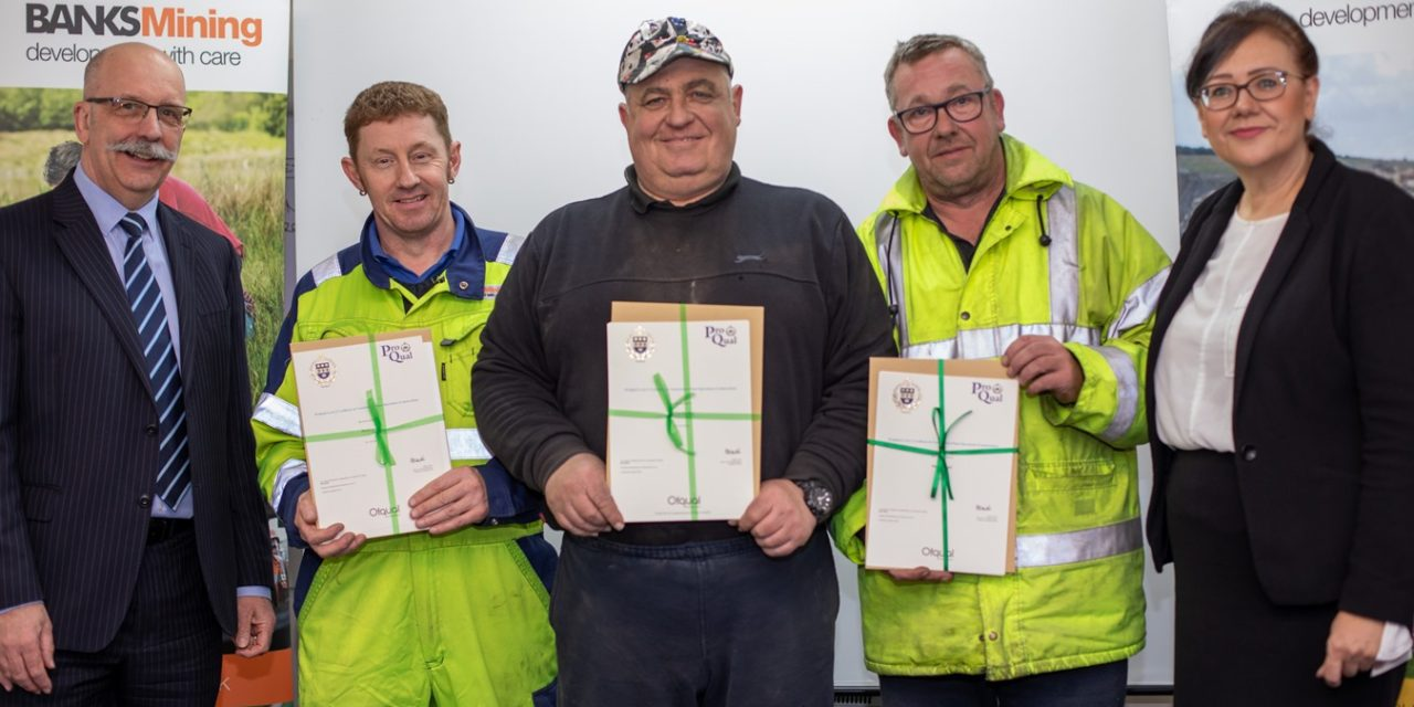 Dozens Of Banks Mining Staff Gather To Celebrate Qualifications Success
