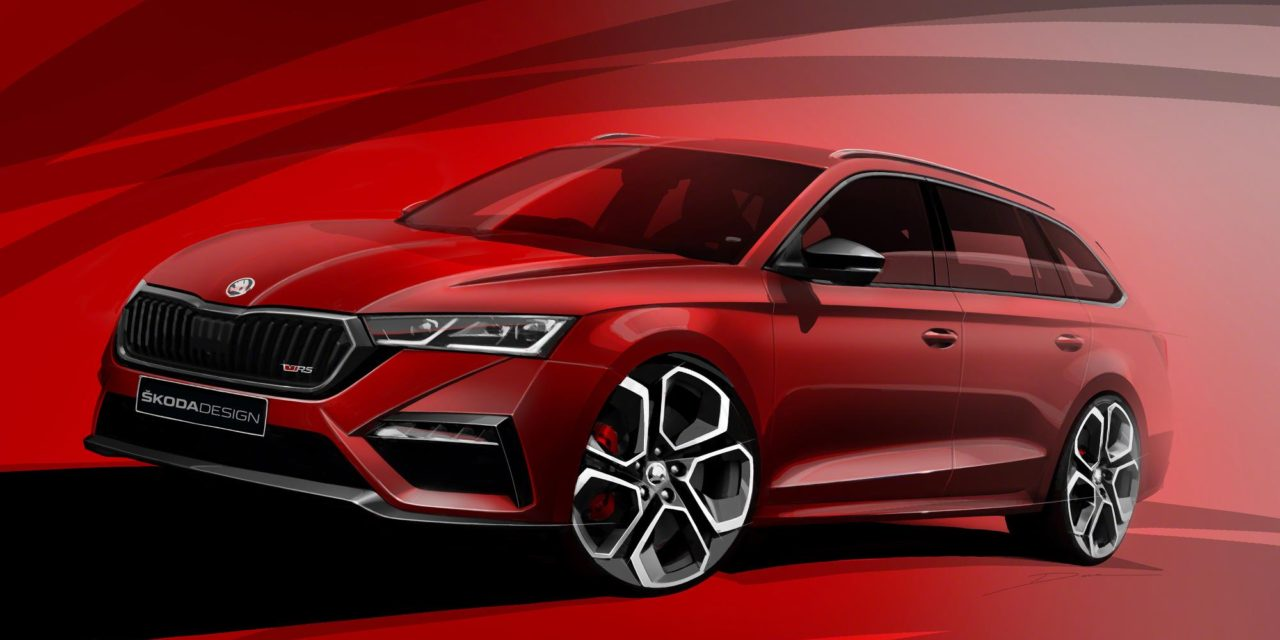ŠKODA TEASES FIRST SKETCHES OF ALL-NEW OCTAVIA vRS iV